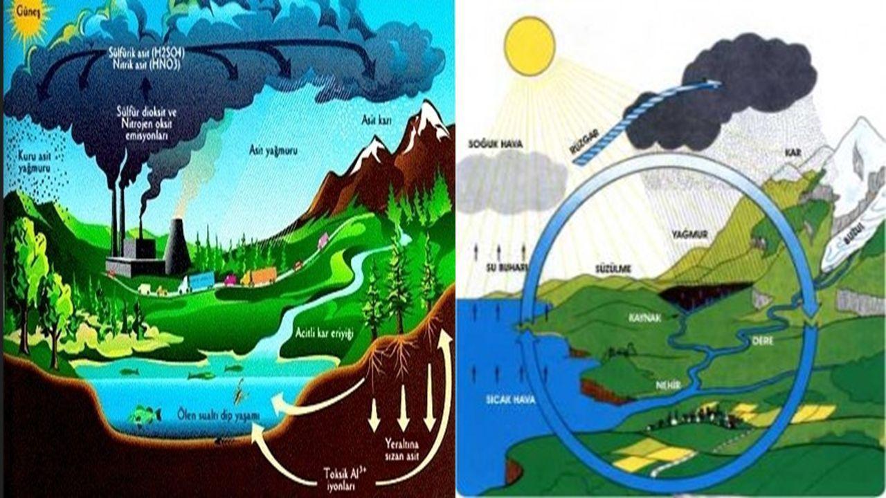 Asit yağmurları nedir nasıl oluşur