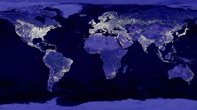 gece dünya haritası