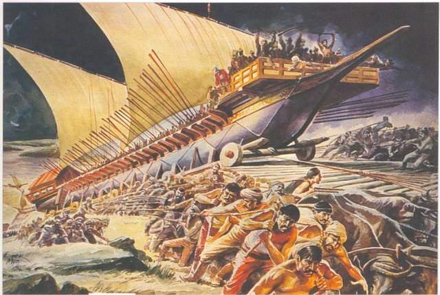 gemilerin karadan yürütülmesi