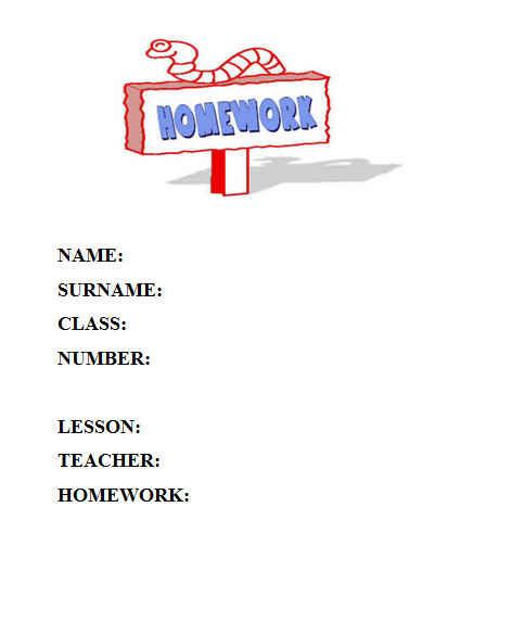 ingilizce ödev kapakları