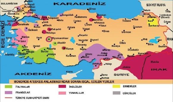 işgal haritası