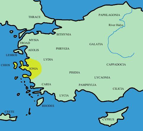 iyonya haritası