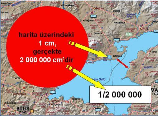 haritalarda ölçekleme