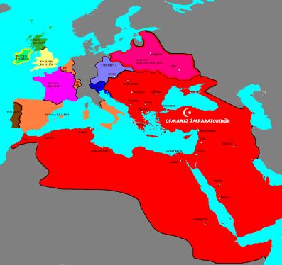 osmanlı devleti haritası en geniş
