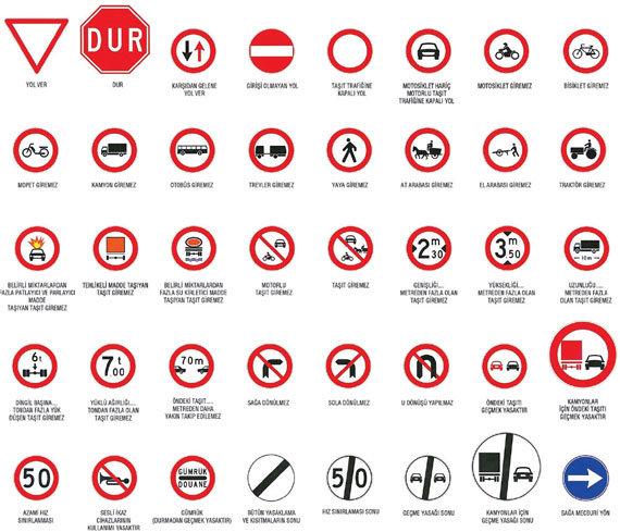 trafik işaretleri