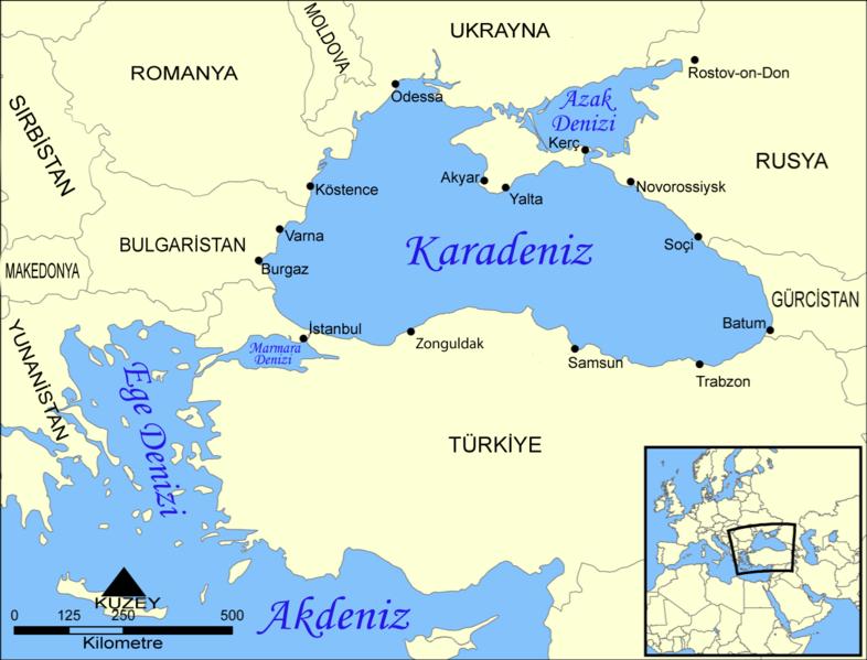 türkiye denizler haritası