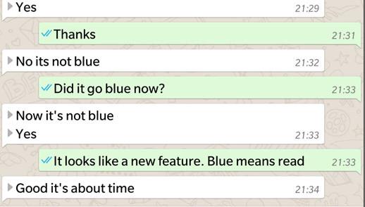 whatsapp mavi tık
